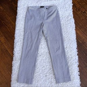 Theory Sayre Striped Classic Cropped Pants SZ 2